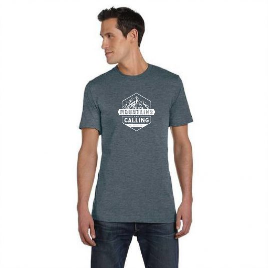 Mountains are calling slate tee