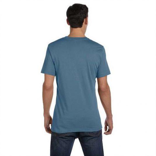 Size tee blue back